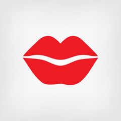 Red lips icon