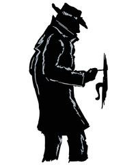 silhouette of thief
