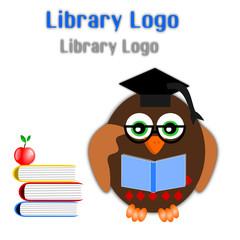 Logo per una libreria con gufo