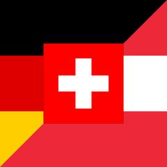 D-A-CH countries – German-Language-Flag
