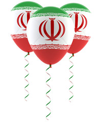 Iranian flag balloon