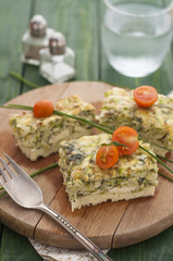 Frittata with Zucchini, Cheese and Dill