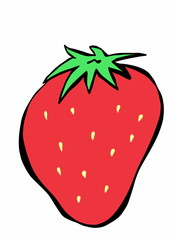 doodle strawberry