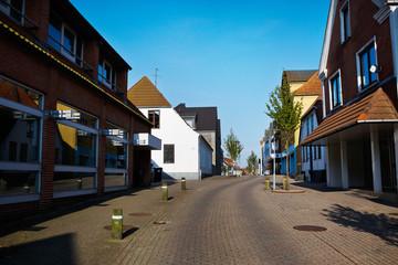 Street in small town in Denmark