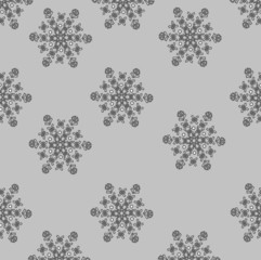 Background of snowflakes (grey)