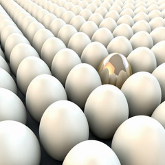 3d render realistic eggs