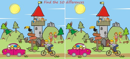 lookout, find ten differences