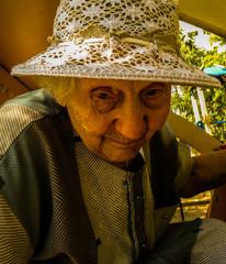 portrait of very sad old woman