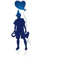 bavarian silhouette man
