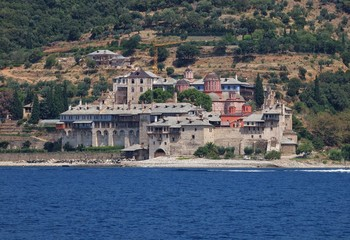 Xenophontos Monastery in Athos Mount, Greece