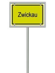 Zwickau - Ortsschild