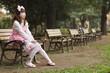 Japanese lolita cosplay in park