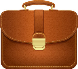 Leather Briefcase, Vector