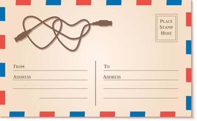 Vintage Letter Postcard Template