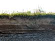 Leinwanddruck Bild - layer of soil