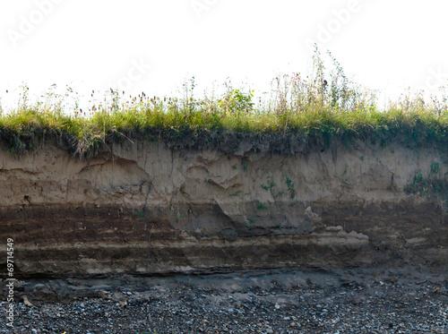 Leinwanddruck Bild layer of soil