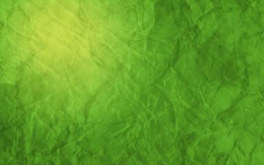 Green Crumpled Paper