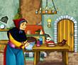 Obrazy na płótnie, fototapety, zdjęcia, fotoobrazy drukowane : Old witch in the old room
