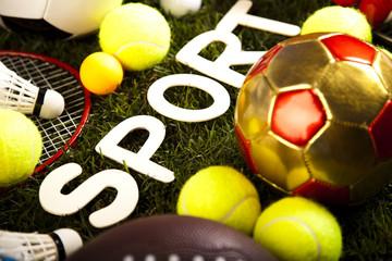 Sport, a lot of balls and stuff
