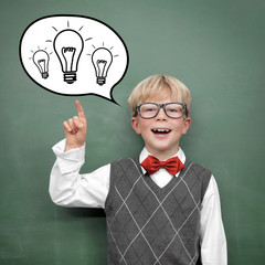 Schoolchild with Ideas
