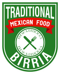 mexican food birria stamp