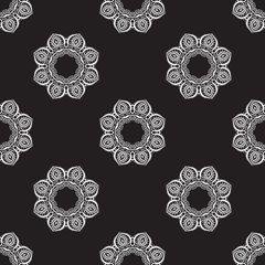 Hand drawn seamless pattern.