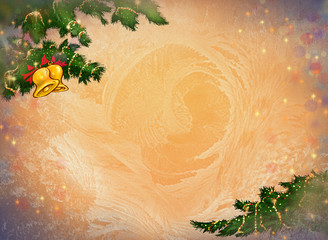 New Year and Christmas background for congratulation