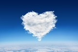 Composite image of cloud heart