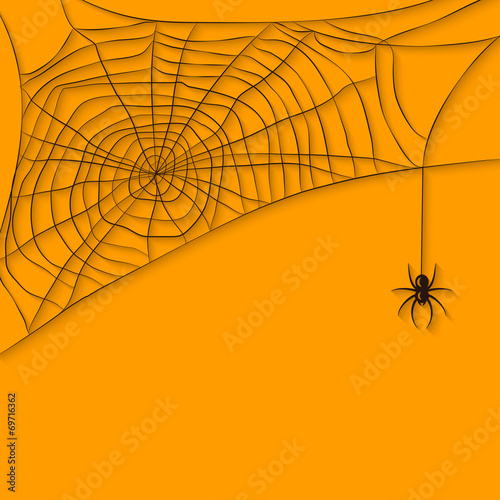 background with spider web - 69716362