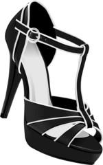 Черная туфелька