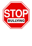 Stop Bullying sign vector poster