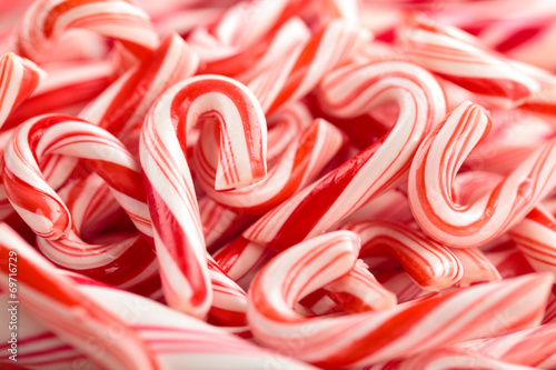 Foto op Canvas Snoepjes Candy Cane Background.