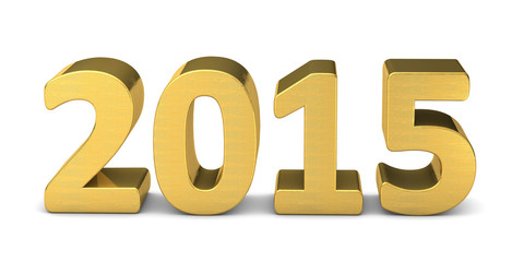 neues jahr new year text gold 2015 3D