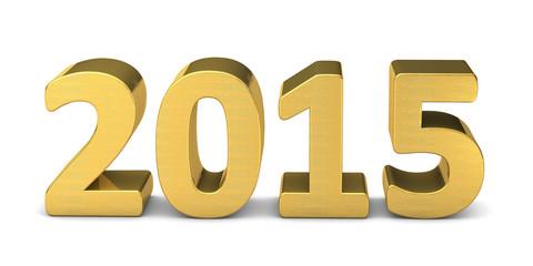 neues jahr new year text gold 2015 3D