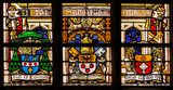 Religion stained-glass in the cathedral of Gent, Belgium