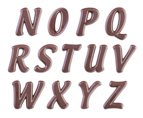 Chocolate alphabet