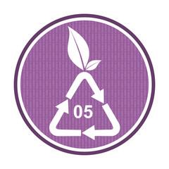 Polypropylen recycling icon