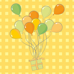 Party balloons birthday decoration of different colors
