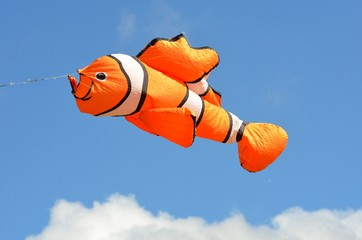 Orange fish kite