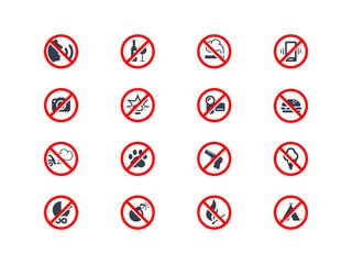 Prohibition icons