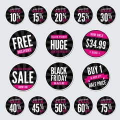 Black Friday Retail Stickers