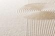 canvas print picture - Sand mit Linien und Kreisen