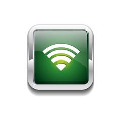 WIFI Rounded Rectangular Vector Green Web Icon Button