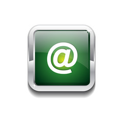 AT Rounded Rectangular Vector Green Web Icon Button