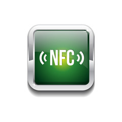 NFC Rounded Rectangular Vector Green Web Icon Button