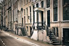 Perspectief van de oude amsterdam
