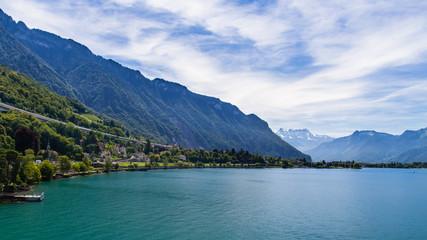 Landscape from the Chillon Castle, Switzerland