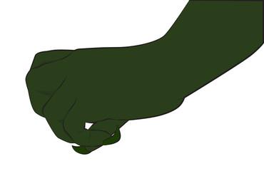 Green monster hand