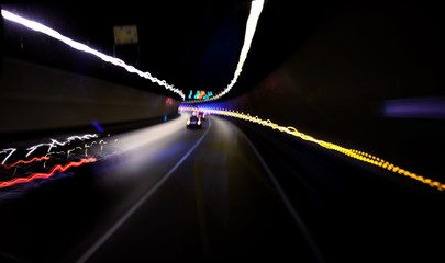 car tunnel abstract