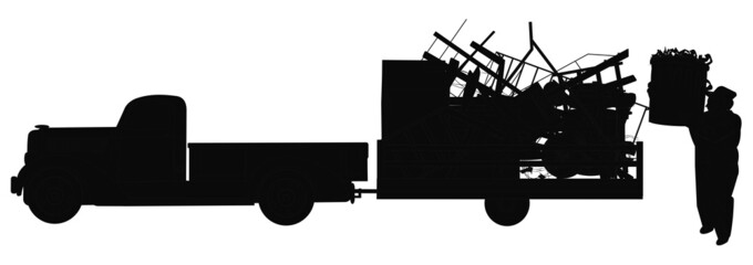 dump run in silhouette
